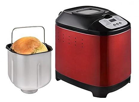 KALORIK TKG BBA 1003 R - Panificadora (hasta 1,5 l (aprox. 350 - 400 g), calor automático, temporizador, color rojo metálico: Amazon.es: Hogar