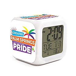 HOTMN Greater Palm Spring Pride Style Fashion Multifunction Digital Desk Alarm Clock with LED Touch Light Desk Watch Table Clock
