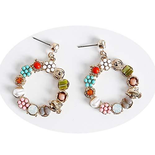 J.Memi.FA Enamel Earrings Hoop Exquisite Pendant Handmade Chandelier Statement Classic Drop Jewelry Gifts - Chandelier Enamel