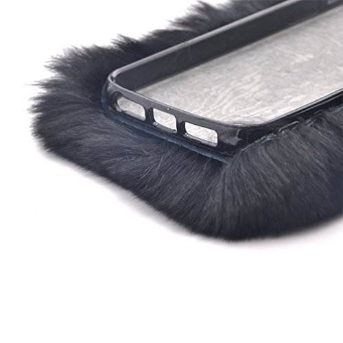 Samsung Galaxy S7 Edge 5.5'' Soft Warm Cute Case, Sammid Women Gift Luxury Stylish Bling Fluffy Cover for Samsung Galaxy S7 Edge - Black by Sammid (Image #2)