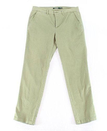 Lauren by Ralph Lauren Women's 8X29 Khakis Chinos Pants Green (Ralph Lauren Khaki Chino)