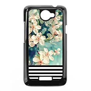 Head Case Designs Floral Stripes Trend Mix Protective Snap-on Hard Back Case Cover ,TPU Phone case for HTC One X,black
