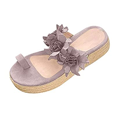 Hosamtel Sandals for Women Platform Shoes Fashion 2020 Summer Flower Shoes Casual Daily Slip On Thick Bottom Slippers: Clothing