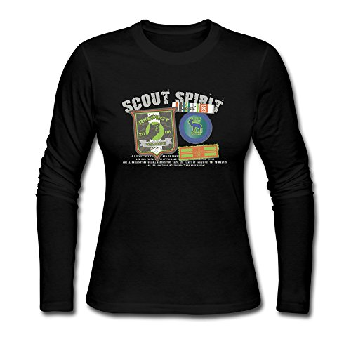 LCNANA Scout Spirit Women's Spring And Autumn Cotton Long-Sleeved T-Shirt Black XXL (Lg G3 Anarchy Case Of Sons)