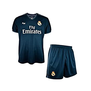 49ebc9ac874b9 Conjunto Camiseta y Pantalon 2ª Equipación 2018-2019 Real Madrid - Réplica  Oficial Licenciado -