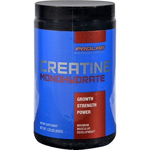 ProLab Nutrition Creatine Monohydrate - 1.32 lbs (600 g) - For Maximum Muscular Development - Gluten Free - Yeast Free - Soy Free