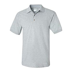Gildan Mens 6.1 oz. Ultra Cotton Jersey Polo G280 -SPORT GREY 2XL
