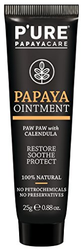 Phytocare Pure Papaya Ointment Tube 25g 100% Natural for Eczema, Psoriasis, Rosacea, Dermatitis One 25g Tube