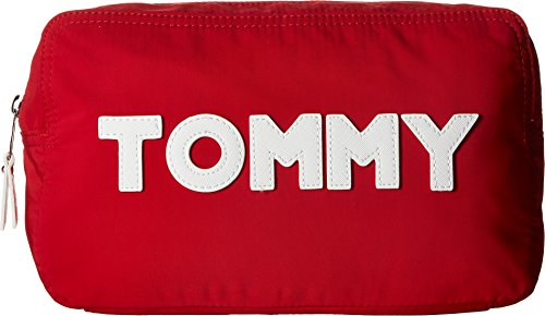 Tommy Hilfiger Women's Tommy Nylon Large Pouch Tommy Red Print One Size