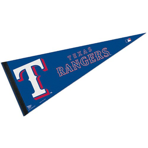 MLB Texas Rangers WCR63818812 Carded Classic Pennant, 12