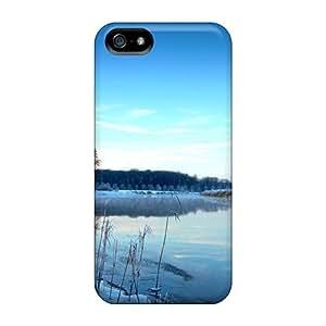New Tpu Hard Case Premium Iphone 5/5s Skin Case Cover(winter Mist)