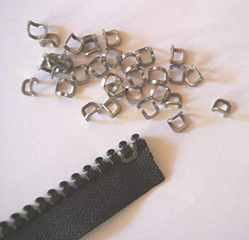 Choose a Zipper for Your Sewing Project - 10 Stainless Steel Zipper Top Stop #10 Vislon Zipper Stops The Sliders for Clothes, Suitcase, Backpack, Craft ()