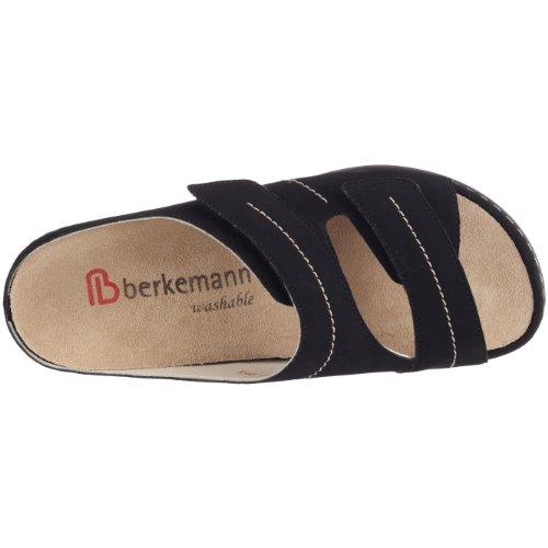 Berkemann Melbourne Fedora washable 1080 - Zuecos de cuero nobuck para mujer Negro