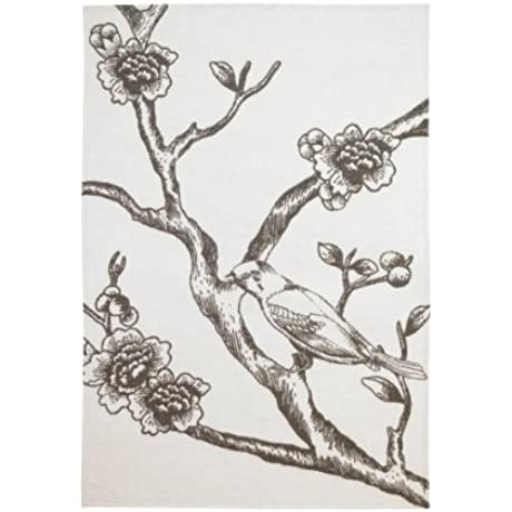 DwellStudio Draper Vintage Blossom Chocolate Throw