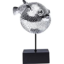 Kare Design Dekofigur Blowfish – silbernes Accessoire in Form eines Kugelfisches