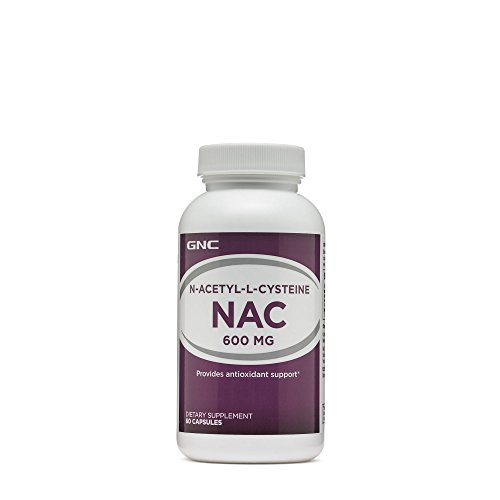 GNC N-Acetyl-L-Cysteine NAC 600mg, 60 Capsules, Provides Antioxidant Support