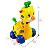 2 pcs Funny Educational Toy Removable Animals Disassembly Toy Giraffe Bunny Turtle Snail Rabbit Plastic Perfect for 3 Years up Kids Xmas Gifts Shape in Random