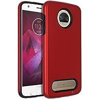 Estuche Moto Z2 Force, funda protectora antiarañazos a prueba de golpes y antigrapado a prueba de golpes SENON para Motorola Moto Z Force (2ª generación) Rojo