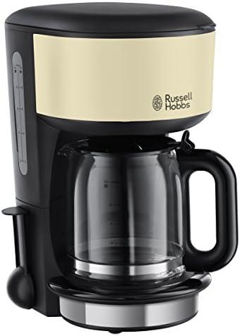 Russell Hobbs 20135-56 Colours Classic Cream-Cafetera de Goteo (Jarra de Cristal, Capacidad 1,25l), 14 Cups, Negro/Crema: Amazon.es: Hogar