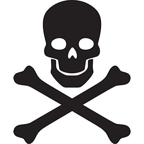 ANGDEST Skull and Crossbones Silhouette (Black) (Set of 2) Premium Waterproof Vinyl Decal Stickers for Laptop Phone Accessory Helmet Car Window Bumper Mug Tuber Cup Door Wall Decoration (Crossbones Set)