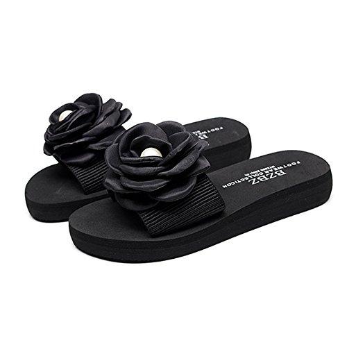 Pantofole 5 da piatto Fondo Sandali 2 antiscivolo Moda spiaggia spesso UK2 ZHIRONG dimensioni femminili CN33 Mare Fondo C Colore Abbigliamento esterno Zeppe EU34 C Estate dxztB6wtq