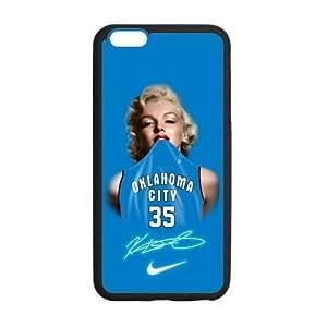 Fashion Oklahoma City Thunder Nike Marilyn Monroe Kevin Durant Custom Case Cover for iPhone6 Plus 5.5 Laser Technology