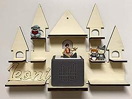 DIY Regal Schloss für die Musikbox passend für Toniebox Kinder Baby Zimmer zum selbst bemalen mit Wunschname tolles...