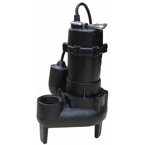 1/2 Horsepower Cast Iron Sewage Pump with Tethered Float Switch and Nonclogging Impeller by Pacific Hydrostar