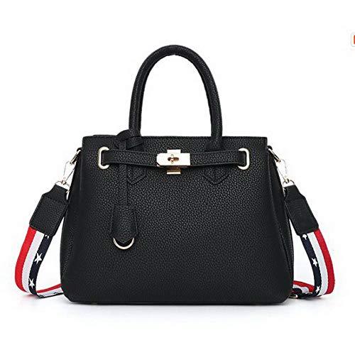 Tote Shopping Nero FBUIBC181924 Borse Chiaretto Style AllhqFashion Donna tracolla Turismo a Dacron tpwH51Pq5x