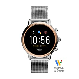 Fossil Gen 5 Julianna Stainless Steel Touchscreen Smartwatch with Speaker, Heart Rate, GPS, NFC, and Smartphone…
