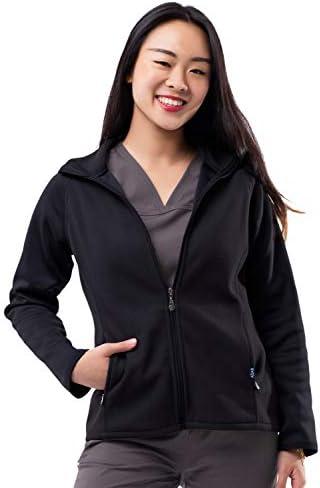 Adar Pro Fleece Jacket for Women – Bonded Fleece Warm-Up Jacket