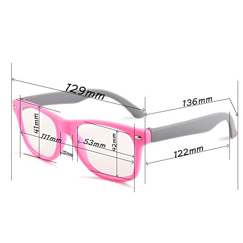 Gudzws Kids Anti Blue Light Glasses Rectangle Plastic Frame Protect Eyesight from Digital Display Computer TV Boys Girls Child Unisex Pink (Suitable for 5-12 Years Old) by Gudzws (Image #7)