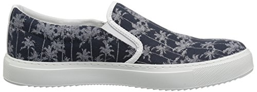 Tropical Navy A Armani Slip Men Printed X Canvas Tropical Sneaker Exchange xzqSR