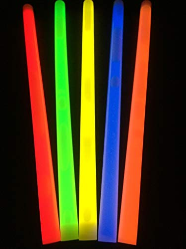 Glow Sticks Bulk Wholesale Industrial Grade Light Sticks, Assorted Colors, Glow 14 Hrs, Safety Glow Stick 3yrs Shelf Life, Ideal for Camping Emergency, GlowWithUs Brand (Renewed)]()