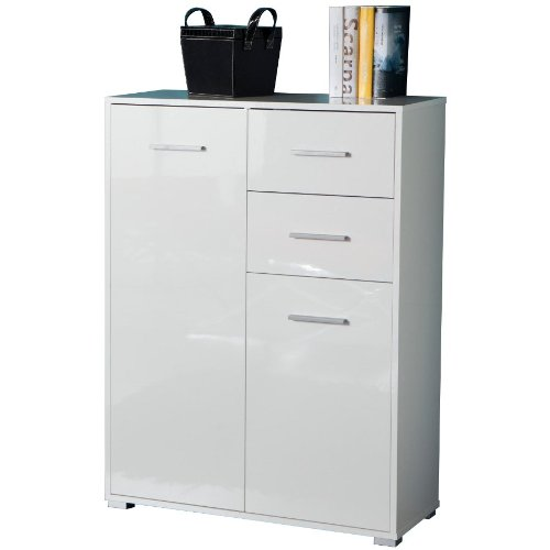 Composad Mobiletto due ante e un cassetto colore laccato bianco