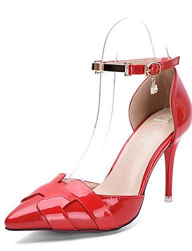 ¨ EU mujer tacones ZQ pu Argento Scarpe tac n di 35 tacones Rosso ® stiletto casual negro ZwZH1Iq