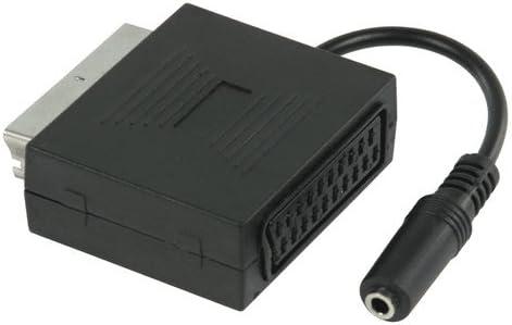 P/éritel avec jack femelle de 3,5/mm Noir avec fonction enceinte TV, p/éritel sans arr/êt du son st/ér/éo de la TV