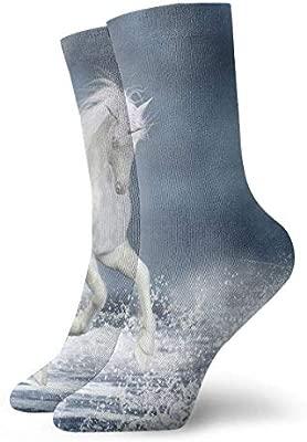 dfegyfr Coastal White Horse Surf Lightning Adult Short Socks ...