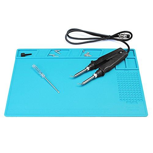 Lace Mini Platforms (Magnetic Heat Resistant Silicone Pad Desk Mat Maintenance Platform Heat Insulation BGA Soldering Repair Station with 26cm Scale Ruler)