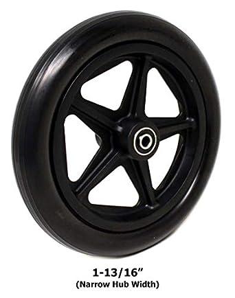 """8 """"x 1"""" Cojinete de rueda delantera para silla de ruedas (cada"""