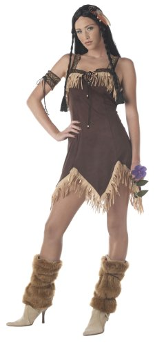[California Costumes Women's Adult- Indian Princess, Brown, L (10-12) Costume] (Pocahontas Costumes For Adults)