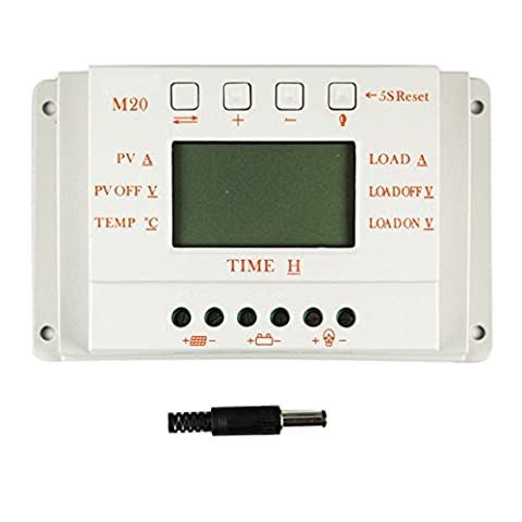 Y-SOLAR PWM Solar Charge Controller 12V/24V Solar Panel Battery Charger