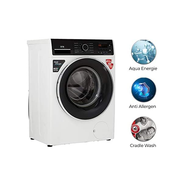 IFB 6.5 Kg 5 Star Fully-Automatic Front Loading Washing Machine (Elena ZX, White, 3D Wash Technology, CradleWash,In… 2021 July Fully-automatic front load washing machine: Best Wash Quality, Energy and Water efficient Capacity 6.5 kg :Suitable for bachelors & couples 1000 rpm: Higher the spin speed, faster the drying time