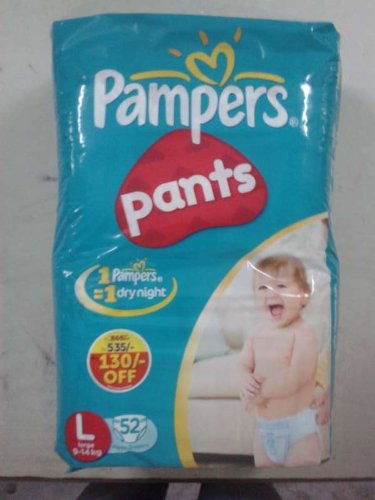 636f3be721 Buy Pampers Large Size Diaper Pants (52 Count) - Offer Pack Online at Low  Prices in India - Amazon.in