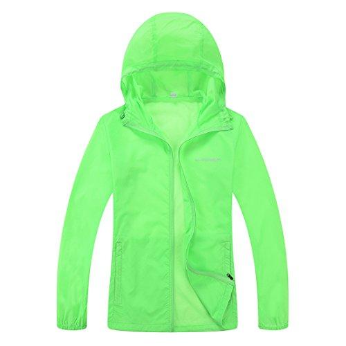 CHAREX Woman Lightweight Windproof Water Repellent Coat Sun Protection Outdoor Jacket Green XL