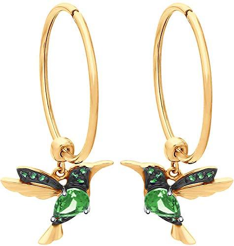 Hummingbird Rhinestone Drop Earrings Ladies Elegant Hummingbird Bird Flowers Crystal Rhinestone Long Tassels Dangle Earrings /& Stud Post Earrings For Women Girls