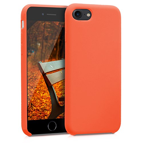 - kwmobile TPU Silicone Case for Apple iPhone 7/8 - Soft Flexible Rubber Protective Cover - Neon Orange