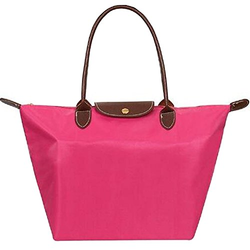 Whoishe Women Fashion Hobo Bag Large Tote Rose Red Shoulder Handbag