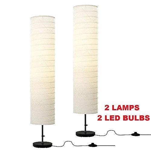 Ikea Holmo Floor Lamp + Led Bulb