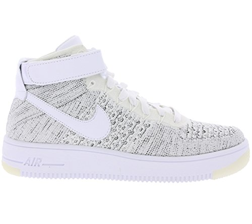 Nike - W AF1 Flyknit - 818018101 - Couleur: Blanc-Gris - Pointure: 38.5
